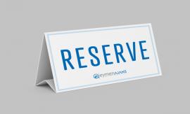 Rezervasyon Kartı / Masa Kartı